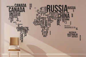 This World Map Wallpaper Design Showcases a Minimalist Concept