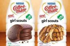 Biscuit-Infused Java Tasters - Try the Two Girl Scoute Cookie Creamer Flavors from Coffee-Mate