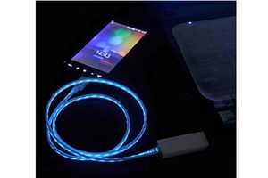 This Glowing Charging Cable Varies in Light Speed According to Battery