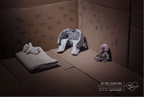 Incarcerated Clothes Ads - A Campaign for Petite Maman Redefines Baby Clothes as Prisoners