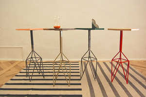 These 'Geo End' Wooden Tables Stand on Unusual Geometric Legs
