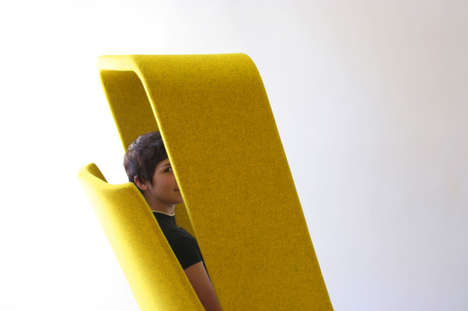Peak-a-Boo Seating - The Windowseat Lounge by Mike & Maaike Provides Sneaky Privacy
