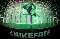 Interactive Pop-Up Athletics Stores - The NikeFree Store Creates Neon Displays Based on Movement