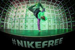 The NikeFree Store Creates Neon Displays Based on Movement