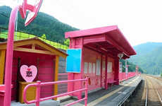 Pink Train Date Locations - The Koi-Yamagata Station Has Been Renovated for a Train Station Date