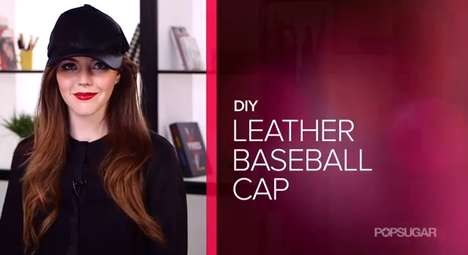 Edgy Hat Crafts - The DIY Leather Baseball Cap Embraces the Spring Runway Accessories