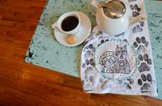 DIY Paw Print Towels - These Creative Tea Towels are Outfitted with Adorable Puppy Prints