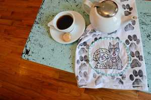 These Creative Tea Towels are Outfitted with Adorable Puppy Prints