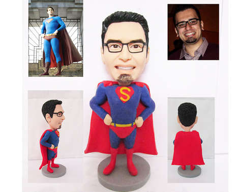 Personalized Superhero Figurines - These Superman Figurines are Made to Look Exactly Like You