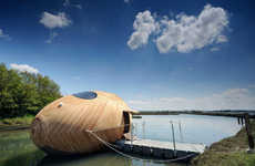 Energy Efficient Egg Boats - The Exbury Egg is a Floating Self-Sustaining Home or Workspace