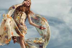 The 'Sun Flowers' Shoot Stars a Soft and Summery Dariia Makarova