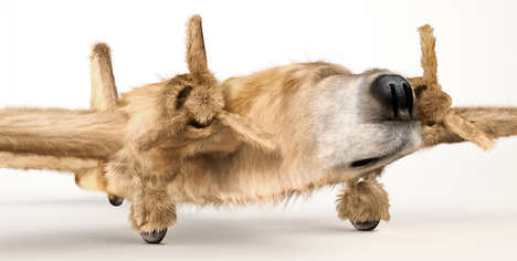 Bizarre Morphed Dog Photography - INK Morphs Furry Friends into Fighter Planes in 'Dogfighters'