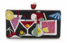 Cocktail-Inspired Clutches - Judith Leiber's Summer Clutches are Bedazzled with Tropical Drinks