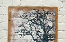 Artistically Upcycled Wooden Illustrations - These Recycled Wood Paintings are Gorgeously Handmade