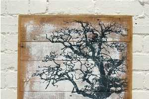 These Recycled Wood Paintings are Gorgeously Handmade