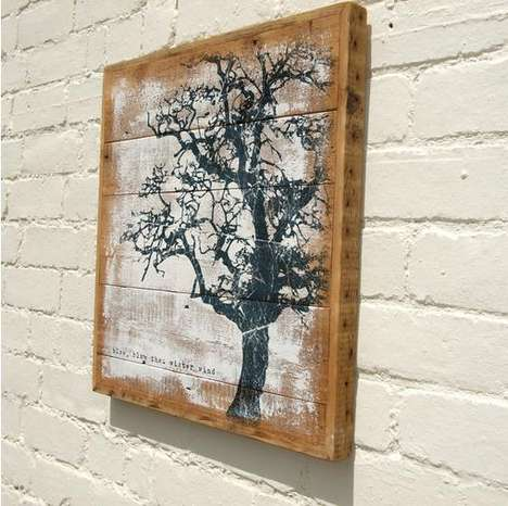Recycled Wood Paintings