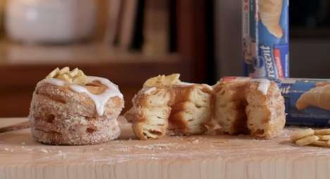 Banana Cream Pillsbury Crescent Doughnuts