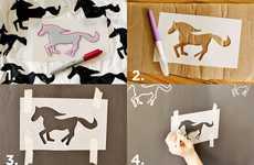 DIY Equestrian Wall Stencils