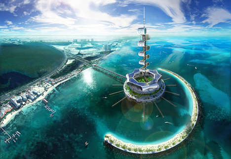 Ocean-Cleaning Eco Towers - The Grand Cancun Aims to Clean up the Mexican Resort Town