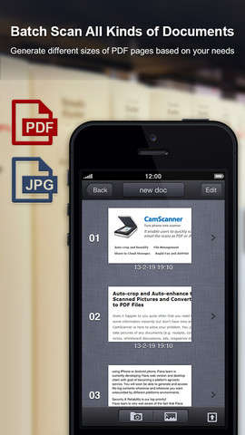 Portable Scanner Phone Apps - The CamScanner App is an On-the-Go Scanner for Phones