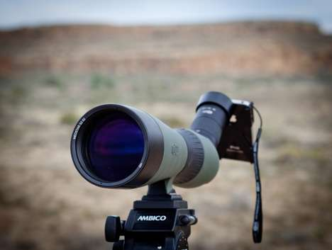 Mega-Zoom Phone Adapters - The Meopta MeoPIx iScoping iPhone Camera Adapter Turns Phones into DSLRs