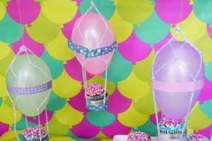 This DIY Hot Air Balloon Decoration Lifts Moods at Gatherings