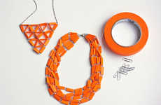 This Paperclip Necklace is Adorned with Colored Masking Tape