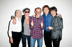 Legendary Rock Band Photoshoots - The Rolling Stones Photoshoot by Terry Richardson is Rocker Hip
