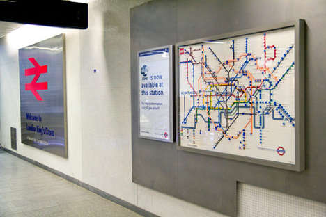 Toy Brick Subway Maps - A Series of LEGO Maps for the London Underground are Made Entirely of Toys