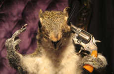 This Suicidal Dead Squirrel is Comical and Disturbing