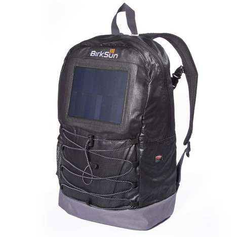 Device-Charging Solar Backpacks - The 'Birksun Levels' Solar Backpack Charges Gadgets on