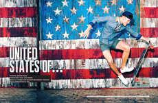 Patriotic Skater Portraits