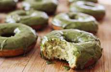 Buttermilk Green Tea Donuts - This Delicious Recipe Tops Cakes with Vibrant Icing