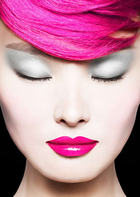 Color-Saturated Cosmetic Close-Ups - The BRIGHT IT UP Image Series by Huljak Stephen is Vivid