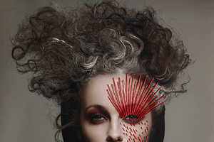 This Dark Beauty Series Contains Odd Hair and Metallic Elements