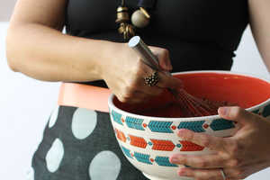 This DIY Activity Turns an Ordinary Shawl into Chic Cooking Attire