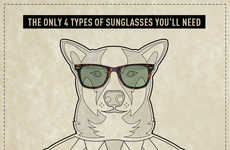 Stylish Sunglass-Clad Canines