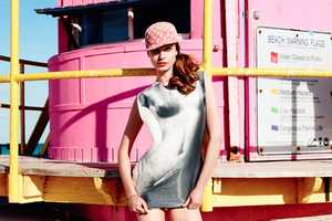 Nadja Bender Showcases Vibrant Retro Beach Fashion for Muse Magazine