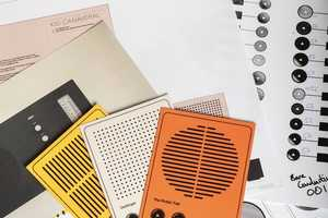 This Musical Paper by 'Uniform' Plays Music on a 'Postcard Player'