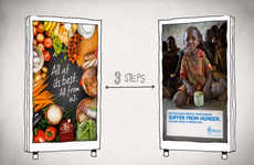 Hunger-Alleviating Ads - The 'Food Link' Campaign Let Users Carry Virtual Food Between Two Ads