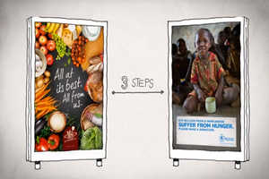 The 'Food Link' Campaign Let Users Carry Virtual Food Between Two Ads