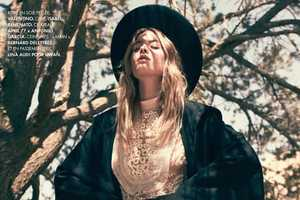 The Laid-Back Camille Rowe Stars in 'Duel au Soleil' for Ell