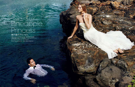 Surfer Bride Photoshoots - The Vogue Japan 2013 Wedding Issue Stars a Playful Marloes Horst