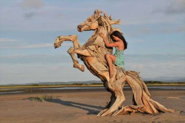 Breathtaking Driftwood Sculptures