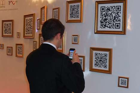 Scannable QR Code Galleries - Deris Patent Set Up a Booth with Framed QR Code Art to Engage You