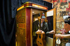 Vinyl Record-Dispensing Booths