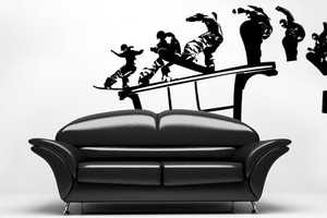 These Sporty Wall Decals Will Playfully Glide Off Your Furniture