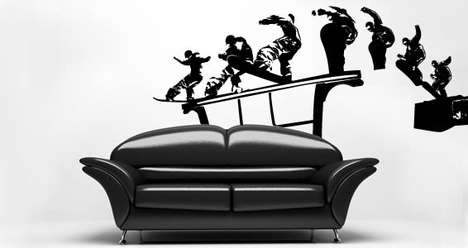 Illusive Sporty Wall Decals - These Sporty Wall Decals Will Playfully Glide Off Your Furniture