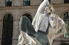 Urbanized Classical Statue Captures