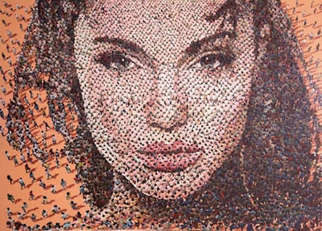 Crowd-Made Celeb Portraits - Syaiful A. Rachman Makes Pop Art Portraits Out of Chaotic Crowds